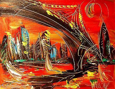 BROOKLYN ORIGINAL OIL Painting  Stretched RUSSIAN IMPRESSIONIST POP ART ERTH