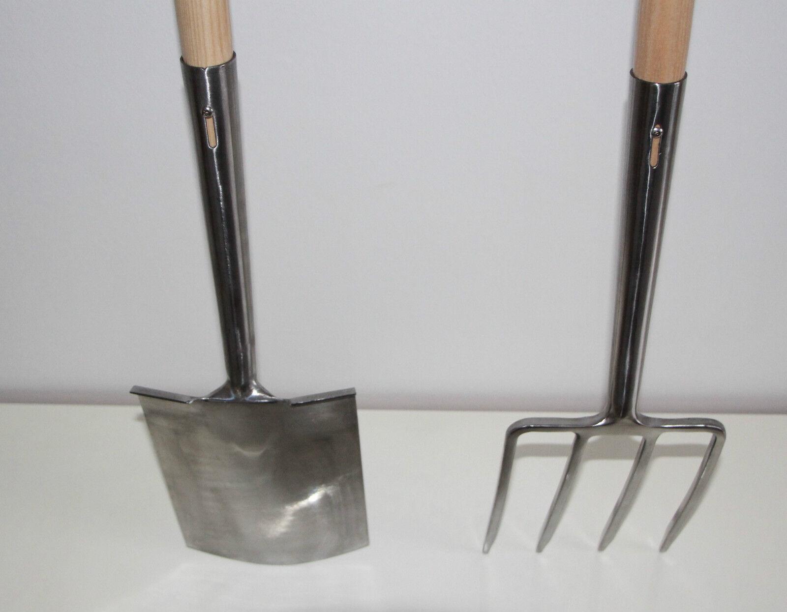 3er Set Spatenstiel Grabegabel Spatengabel Stiel Holzstiel T Griff Garten 90 cm