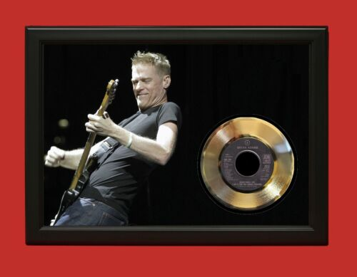 Bryan Adams Poster Art Wood Framed 45 Gold Record Display C3