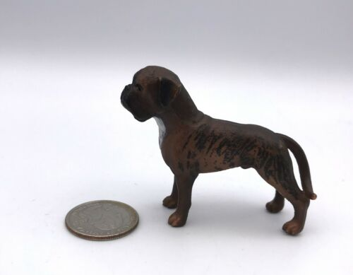 Schleich Male BRINDLE BOXER Adult Brown Dog Figure 16389 Retired 2012