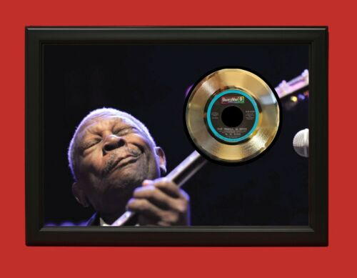 BB King Poster Art Wood Framed 45 Gold Record Display C3