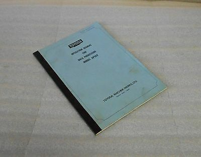 Toyoda Operation Manual for Data processor Mod# AP502, T-OP-01.09.11-E, Used