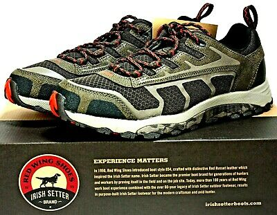 Red Wing Irish Setter Men's Hunting Hiking Trail Shoes Brown Leather & Mesh NIB