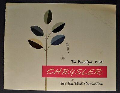 1950 Chrysler Two-Tone Brochure Royal Windsor New Yorker Saratoga Nice Original