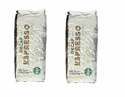 2-Starbucks Decaf Espresso Dark Roast Whole Bean Coffee 2 LB Best date Feb