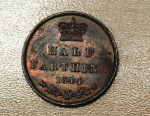 1844 Great Britain 1/2 Farthing