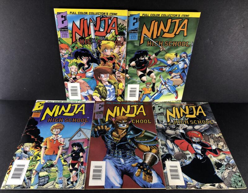 Ninja High School In Color 1-5 Eternity Comics Full Complete Run Set Lot
