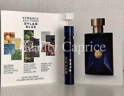 1 Sample x1ml Versace Pour Homme Dylan Blue Eau De Toilette For Men Free P&P