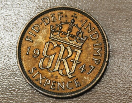 1947 Great Britain 6 Pence Sixpence Wedding Coin