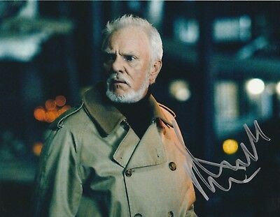 MALCOLM MCDOWELL ROB ZOMBIE'S HALLOWEEN SIGNED 8X10 COLOR PHOTO DR LOOMIS  (Malcolm X Halloween)