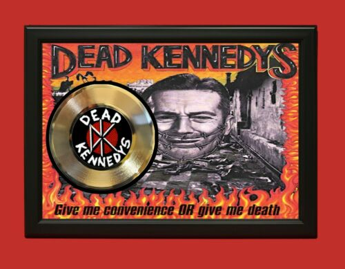 Dead Kennedys Poster Art Wood Framed 45 Gold Record Display C3