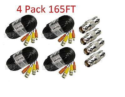 Premium Quality 4x165ft Video Power BNC Cable for Swann CCTV Security Camera