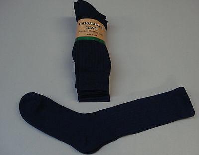 NWT Carolina's Best 71% Merino Wool Classic Rib Socks 3 Pair 10-13 Navy