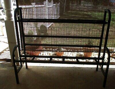 10 Head Unit Bulk Vending Machine Display Steel Rack Step Stand Oak Northwestern