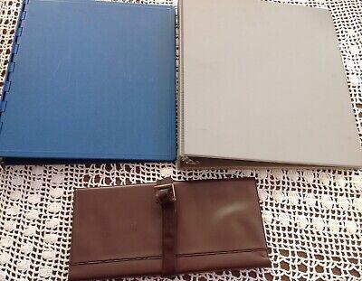 Vintage Hardback Book Style Ring Binder Organizer Planner Set 2 Document Case