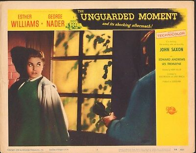 "The Unguarded Moment Original 11 x 14""  Lobby Card #4 1956 Esther Williams"