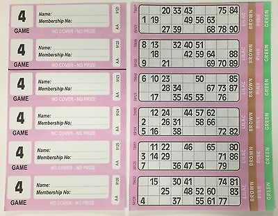 450 4 PAGE GAMES XL BINGO TICKETS SIMILAR TO JUMBO IN SIZE & QUALITY 75 STRIPS