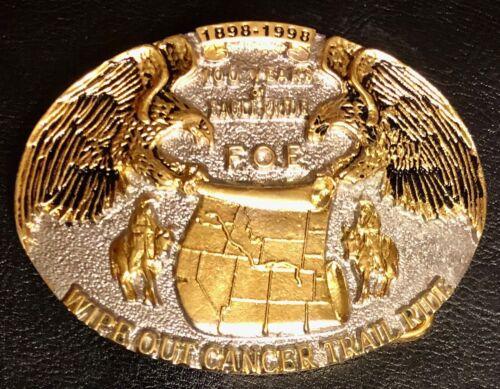 "1898 – 1998 Fraternal Order of Eagles ""100 Years of Eagle Pride"" Belt Buckle"