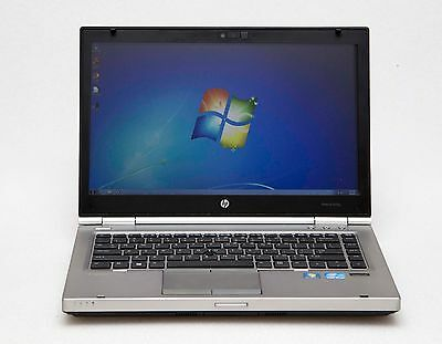 "HP EliteBook 8470p 14"" i5 3rd Gen 2.6GHz 4GB 128GB SSD 1600x900 Webcam W7 Laptop"