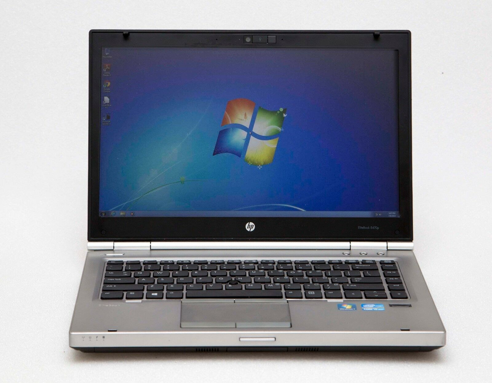 "HP EliteBook 8470p 14"" Core i5-3320M 2.6GHz 8GB 256GB SSD 1600x900 Win 7 Laptop"
