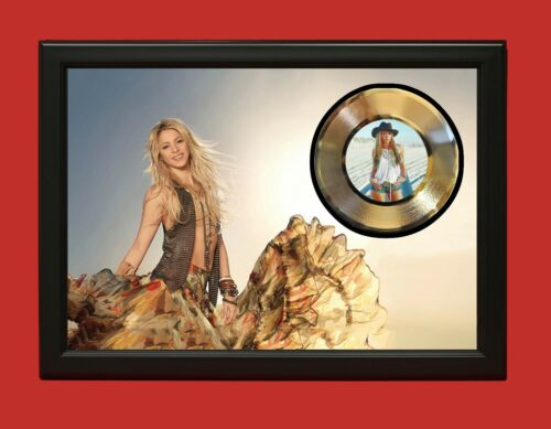 Shakira Art Poster Wood Framed 45 Gold Record Display C3