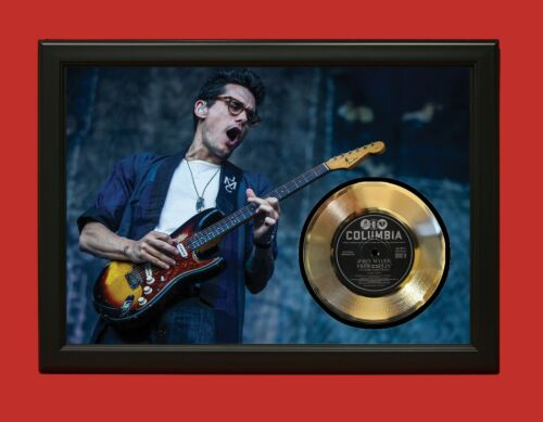 John Mayer Poster Art Wood Framed 45 Gold Record Display C3