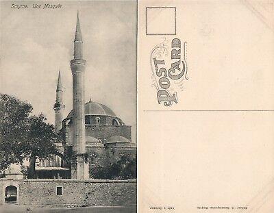 Smyrna Izmir Turkey Mosque Antique Postcard
