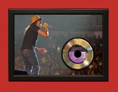 Kid Rock Poster Art Wood Framed 45 Gold Record Display C3