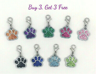Buy 3 Get 3 Free! Dog or Cat Paw Clip-On Charms for Bracelets, DIY Jewelry](Dog Charms For Bracelets)
