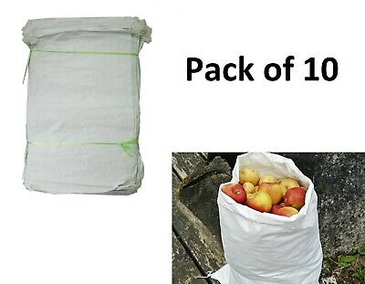 Woven Large Extra Heavy Duty Rubble Sand Bag Sacks Polypropylene Builder Pack 10