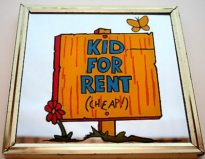 1970s Kid For Rent (Cheap!) Campy Mini Dime Store Carnival Prize Mirror New NOS - Cheap Carnival Prizes