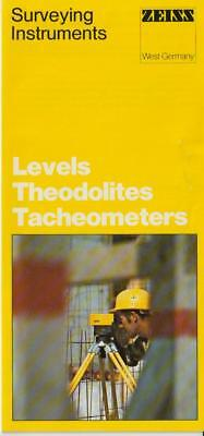 Zeiss Surveying Instruments Levels Theodolites Tacheometers Sales Brochure-vg