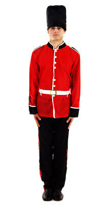 ADULT ROYAL BUSBY GUARD COSTUME Queen's Guard British Fancy Dress Outfit U20079