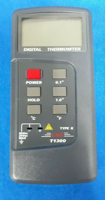 GME T1300 DIGITAL THERMOMETER TYPE K THERMOCOUPLE >