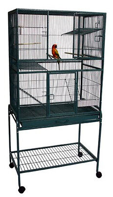 NEW Bird Flight Canaries Parrot multiple Pet birds Cage With Metal Tray 540