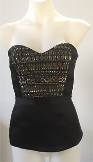 Thurley beaded bustier / strapless top