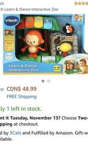 Vtech Learn and Dance Interactive Zoo for 6 months and up