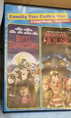 2 Family PG Animated Halloween Movies Hotel Transylvania Monster House DVD - Animated Halloween Movies