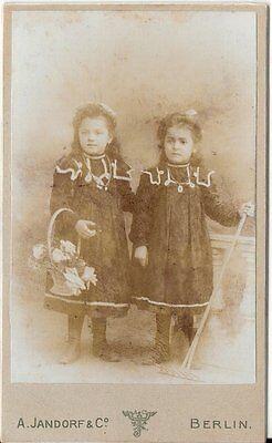 CDV photo Niedliche kleine Mädchen - Berlin um 1900
