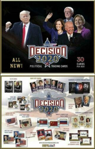 BENCHWARMERS LEAF DECISION 2020 TRADING CARDS BOX Donald Trump Joe Biden Auto ?