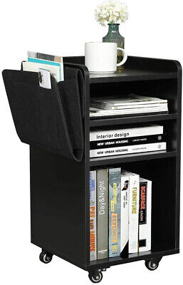 Office Cabinet Wood File Storage Movable Casters Shelf Organizer Printer Stand