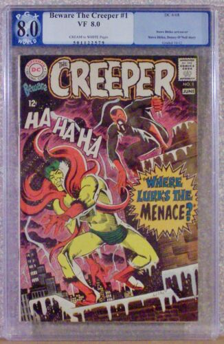 BEWARE The CREEPER, Vol. 1, #1, 6-1968, PGX 8.0, #501122579