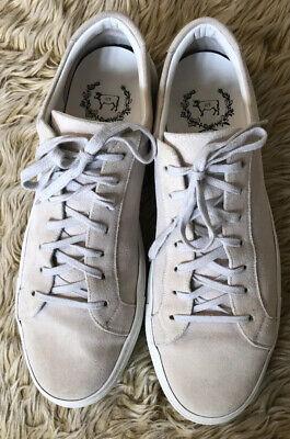 Del Toro Men's Sardegna Suede Sneakers 10 Shoe Off White Rubber Sole Italy $350
