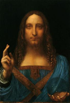 Leonardo  da Vinci Salvator Mundi letter size { Jesus } FRAMED
