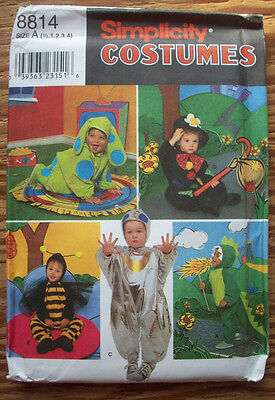 Toddler baby dog bee dragon hobo alien costume pattern 8814 size 1/2 1 2 3 4