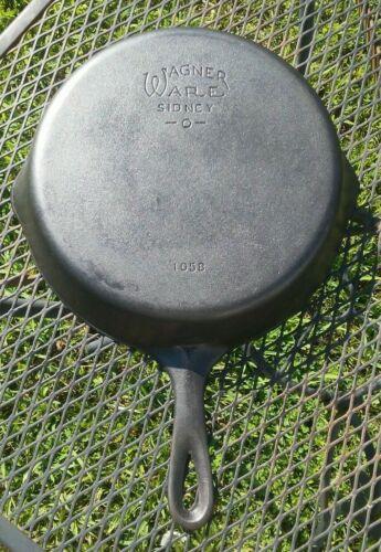 Vintage Wagner No. 8 Cast Iron Skillet Restored .