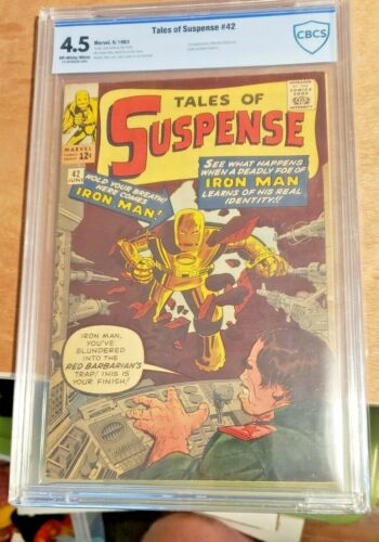 Tales of Suspense 42 CBCS (CGC) 4.5 4th App of Iron Man 1st Red Barbarian