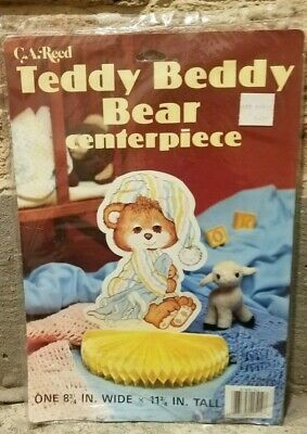 NIP Vintage C.A. Reed Honeycomb Teddy Beddy Bear Table Centerpiece Baby Shower  - Care Bear Baby Shower