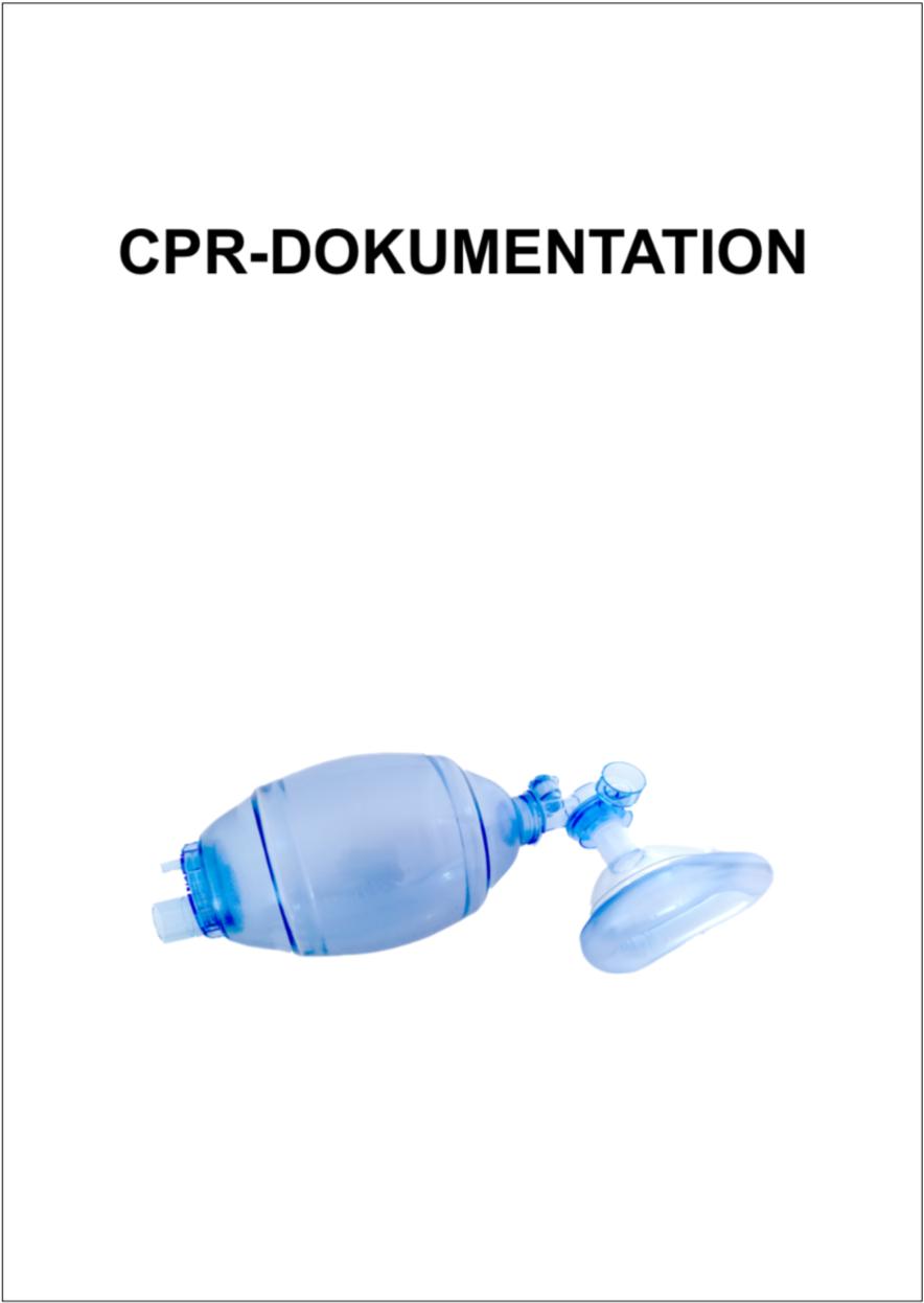 Block zur CPR-Dokumentation (Reanimation), Dokumentationsblock Rettungsdienst