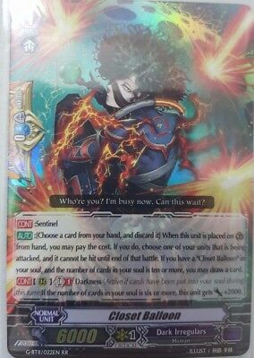 Cardfight Vanguard English G-BT11/022EN RR Closet Balloon